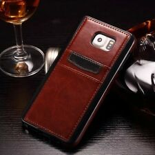 Luxury Slim Leather Card Slot Wallet Back Case Cover Skin For Samsung iPhone  A