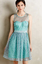 NWT - ANTHROPOLOGIE - MOULINETTE SOEURS - Chasia Dress - size 2 (Turquoise) $178