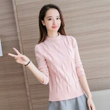 new Autumn winter Korean fashion beautiful High collar Knitting sweater coat