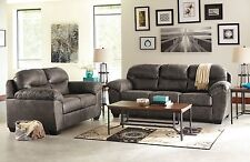 Modern Style 2pc Set Sofa & Loveseat Living Room Charcoal Color Ashley Furniture