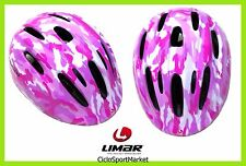 """Casco Limar Cycling Bicycle Ideal For Girl 149 """"Pink Camo"""" Size M"""