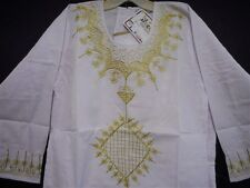 Women's African Clothing Traditional Skirt Suit Outfit Boho Attire White Gold 2