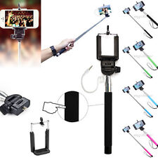 Mini Wired Handheld Selfie Stick Monopod Extendable Pole Holder For Cell Phone