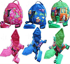 Baby Toddler Kid Keeper Safety Harness Backpack Walker Strap Rein Belt Leash Bag