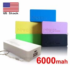 Multi Color 6000mah 5V 1A External USB Battery Charger Power Bank USA Fast Ship