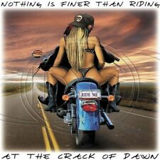 Biker T Shirt Nothing Is Finer Than Riding At The Crack Of Dawn Chopper Free