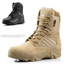 US Military Tactical Boots Leather Desert Combat  Lightweight Army Hiking Boots