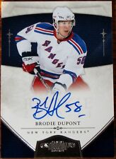 Brodie Dupont 2010-11 Dominion Autographed Rookie card #207  012/199