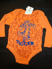 "DISNEY POOH ""TIGGER"" BODY SUIT  NWTS  ADORABLE PRINT"