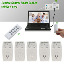 1/3/5 Pack Wireless Remote Control AC Electrical Power Outlet Plug Switch Socket