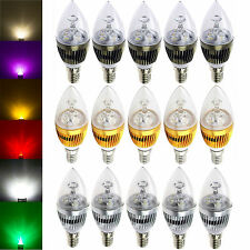 10x Dimmable E12 Candelabra 6W 8W 10W High Power LED Chandelier Light White Bulb