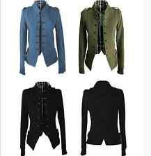 Fashion Women Ladies Stand Collar Double-breasted Short Coat Jacket Outwear