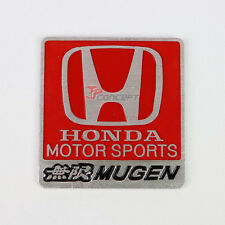 Honda Motor Sports Mugen Square Badge Decal Sticker Emblem For Honda Acura