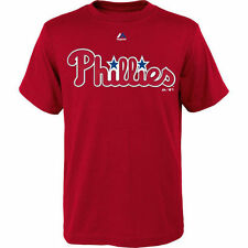 Majestic Philadelphia Phillies Youth Red Official Wordmark T-Shirt