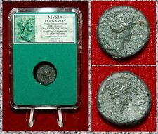 Ancient Greek Coin MYSIA PERGAMON Bust Of Senate And Bust Of Roman On Reverse