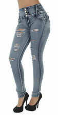 LA8-8A138S – Butt Lift, Levanta Cola, Destroyed, Ripped, Mid Waist, Skinny Jeans