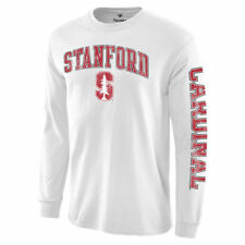 Stanford Cardinal White Distressed Arch Over Logo Long Sleeve Hit T-Shirt
