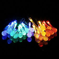 LED Solar Water Drop String Light For Christmas Party Garden Tree Decorative BE