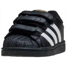 adidas Superstar Foundation Toddler Trainers Black White New Shoes