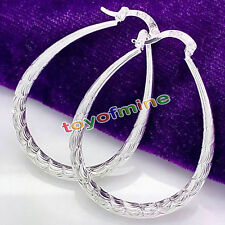 Fashion Women's Jewelry 925 sterling Silver Round Hoop Dangle Stud Earrings Gift