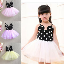 Flower Girls Dress Toddler Baby Minnie Mouse Birthday Party Outfit Kids Clothing