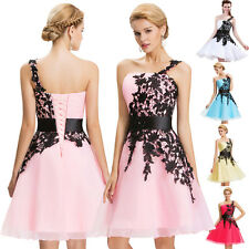 Lace Mini Short Dress One shoulder Party Homecoming Bridesmaid Cocktail Gown New