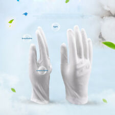 1 Pair White Inspection Cotton Lisle Work Gloves Coin Jewelry Lightweight Cheap
