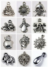 Vintage Bronze Animal Carved Charms Pendant Findings Beads Fit Jewelry DIY