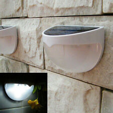 Waterproof Solar Power Sensor 6 LED Wall Path Light Outdoor Garden Fence Lamp WB