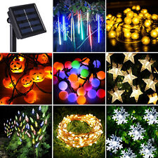 100/200 LED Solar Power String Fairy Lights Indoor/Outdoor Xmas Christmas Party