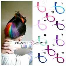 Highlights Ombre Straight Clip in Synthetic Hair Extensions 10pcs Heat Resistant