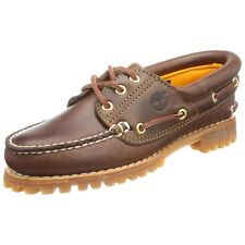 Timberland Women Flats Oxfords Heritage Noreen 3 Eye Handsewn Shoes Brown