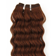 150g 16''~26'' Deep Weft Hair Curly Weaving 100%Real Human Hair Extensions Brown