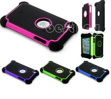 For ipod touch 4 4th gen Hybrid Impact Rubber Rugged Hard Case Cover Skin