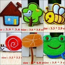 10pcs/set Bee/Frog/Lotus Embroidered Applique Iron Sewing on Patches/Badges
