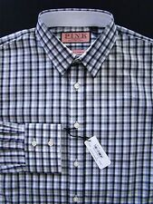 Thomas Pink NEW The Twin Collection Gray Check Dress Shirt