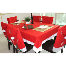 132x178cm Christmas Tablecloth Chair Cover Xmas Party Table Restaurant Decor MW