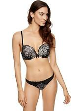 Ann Summers Womens Triple Boost Plunge Bra Black Padded Sexy Lingerie Underwear