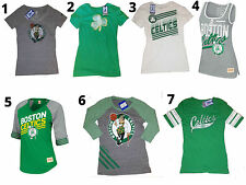 BOSTON CELTICS PREMIUM WOMENS VINTAGE RETRO ADIDAS MITCHELL & NESS SHIRTS