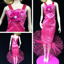 New Fashion Handmade Clothes Dress For Barbie Doll Different Style JRAU