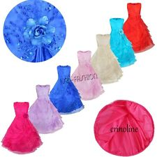 Girls Flower Embroidered Formal Party Prom Dress Bridesmaid Flowergirl NEW