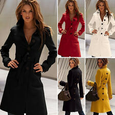 Fashion Women ladies Long Parka Coat Outwear Winter Warm Trench Jacket Coats New