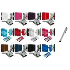 For iPhone 5C Leather Wallet Pouch Case Cover Credit Card ID Holder+Metal Pen
