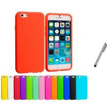 For Apple iPhone 6 (4.7) Silicone Case Rubber Soft Skin Cover Stylus Pen