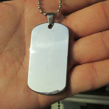100pcs/lot Stainless steel Army Dog Tags Men Pendants, Mirror surface DOG TAGS