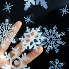 54/78 Christmas Window Sticker Snowflake Xmas Decoration with Glitter Decal