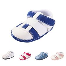 0-18M Summer Baby Boy Girl Soft Sole Leather Anti-slip Shoes Sandals Prewalker