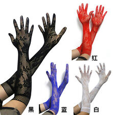 FREE Women Sexy Lace long Full Lace Simple elastic Gloves Formal Wedding Bridal