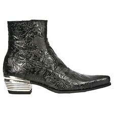 New Rock M.NW131-S1 Vintage Flower Black Mens Boots
