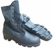 BRITISH ARMY - JUNGLE WELLCO BLACK BOOTS - SIZE 12 LARGE - SN2556